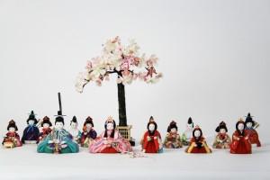 雛人形十五人集合